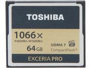 Toshiba EXCERIA PRO 64GB Compact Flash (CF) Flash Card Model THNCF064GSGI