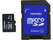 Toshiba 8GB microSDHC Flash Card With Adapter Model PFM008U-1DCK