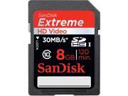 SanDisk Extreme 8 GB Secure Digital High Capacity (SDHC) - 1 Card