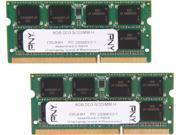PNY Optima 16GB (2 x 8G) 204-Pin DDR3 SO-DIMM DDR3 1333 (PC3 10666) Laptop Memory Model MN16384KD3-1333