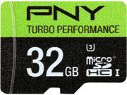 PNY Turbo Performance 32GB microSDHC Flash Card Model P-SDU32GU390G-GE