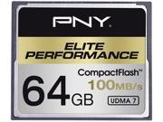 PNY Elite Performance 64GB Compact Flash (CF) Flash Card Model CF64GELIPER-EF