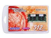 Transcend 512MB 200-Pin DDR SO-DIMM DDR 333 (PC 2700) Laptop Memory Model TS64MSD64V3F