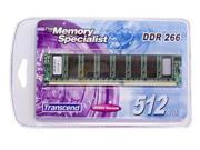Transcend 512MB 184-Pin DDR SDRAM DDR 266 (PC 2100) System Memory Model TS64MLD64V6F5