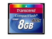 Transcend TS8GCF400 8 GB CompactFlash (CF) Card - 1 Card