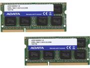 ADATA Premier Series 16GB (2 x 8G) 204-Pin DDR3 SO-DIMM DDR3L 1600 (PC3L 12800) Laptop Memory Model ADDS1600W8G11-2