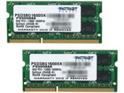 Patriot Signature 8GB (2 x 4GB) 204-Pin DDR3 SO-DIMM DDR3 1600 (PC3 12800) Laptop Memory Model PSD38G1600SK