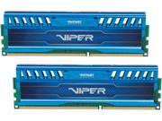 Patriot Viper 3 16GB (2 x 8GB) 240-Pin DDR3 SDRAM DDR3 1600 (PC3 12800) Desktop Memory Model PV316G160C9KBL