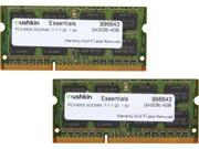 Mushkin Enhanced Essentials 4GB (2 x 2GB) 204-Pin DDR3 SO-DIMM DDR3 1066 (PC3 8500) Dual Channel Kit Laptop Memory Model 996643