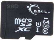 G.SKILL Mobile Devices (microSD) 64GB microSDXC Flash Card Model FF-TSDXC64GN-U1