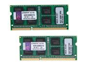 Kingston 16GB (2 x 8G) 204-Pin DDR3 SO-DIMM DDR3 1333 Laptop Memory Model KVR13S9K2/16