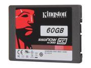 "Kingston SSDNow KC300 SKC300S37A/60G 2.5"" 60GB SATA III Enterprise Solid State Drive with Adapter"
