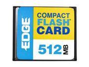 EDGE Tech 512MB Compact Flash (CF) Flash Card Model EDGDM-179502-PE