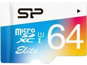 Silicon Power 64GB 85MB/s MicroSDHC UHS-1 Class10 Elite Flash Memory Card w/ Adaptor