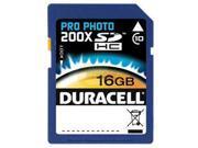 Duracell 16GB Secure Digital High-Capacity (SDHC) Flash Card Model DU-SD1016G-C