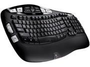 Logitech K350 Black USB 2.4 GHz Wireless Ergonomic Keyboard