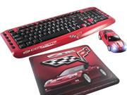 Road Mice Chevrolet Corvette HP-12KBCZRXA Red Ergonomic Keyboard, Mouse & Mouse Pad