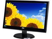 "AOC e2050Swd Black 19.5"" 5ms Widescreen LED Backlight LCD Monitor"