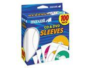 maxell 190133 CD/DVD Sleeves (100-Pack)