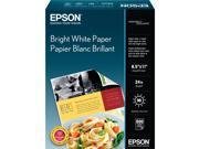 """Epson S041586 Premium Photo Paper Letter - 8.50"""" x 11"""" - 500 / Box - Bright White"""
