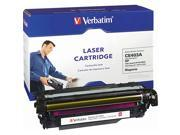 Verbatim HP CE403A Remanufactured Toner Cartridge Replacement for HP HP COLOR LASERJET 500, M551 MAGENTA TONER