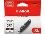 Canon CLI-251BK XL High Yield Black Ink Cartridge&#59; 1 Black (6448B001)