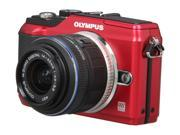 """OLYMPUS E-PL2 Red 12.3 MP 3.0"""" 460k 3:2 LCD Interchangeable Lens Type Live View Digital Camera w/ m14-42mm II"""