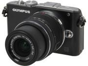 Olympus PEN E-PL3 Black 12.3MP Digital Camera with 14-42mm Lens