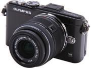 """OLYMPUS E-PL5 V205041BU000 Black 16.1 MP 3.0"""" 460K Touch LCD Micro Four Thirds interchangeable lens system camera with 14-42mm II R Lens"""