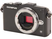 """OLYMPUS E-PL5 (V205040BU000) Black 16.1 MP 3.0"""" 460K Touch LCD Micro Four Thirds interchangeable lens system camera - Body"""