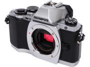 "OLYMPUS OM-D E-M10 V207020SU000 Silver 16.1MP 3.0"" 1037K Touch LCD Digital Camera - Body Only"