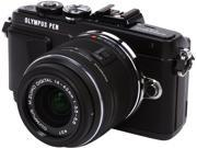 "OLYMPUS PEN E-PL7 V205071BU000 Black 16.1MP 3.0"" 1037K Touch LCD Micro Four Thirds Interchangeable Lens System Camera with M.Zuiko 14-42mm f3.5-5.6 II R Lens"