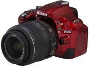 Nikon D5200 1507 Red 24.1 MP Digital SLR Camera with 18-55mm VR Lens Kit