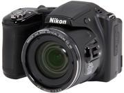 Nikon COOLPIX L830 26439 Black 16 MP 34X Optical Zoom Wide Angle Digital Camera HDTV Output