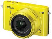 "Nikon 1 S2 27698 Yellow 14.2MP 3.0"" 460K LCD Camera with 11-27.5mm lens"