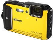 "Nikon COOLPIX AW130 26494 Yellow 16.00 MP 3.00"", 921K  OLED with Anti-reflection coating 6-level brightness adjustment Digital Camera"