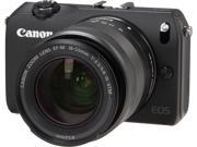 "Canon EOS M (6609B074) Black 18 MP 3.0"" 1040K LCD Compact Mirrorless System Camera with EF-M 18-55mm f/3.5-5.6 IS STM Kit"