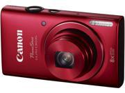 Canon PowerShot ELPH 130 IS Red 16.0 MP 8X Optical Zoom 28mm Wide Angle Digital Camera with Case