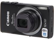 Canon PowerShot ELPH 340 HS 9344B001 Black 16 MP 12X Optical Zoom 25mm Wide Angle Digital Camera HDTV Output