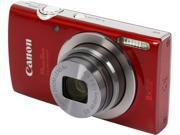 Canon PowerShot ELPH 160 Red 20.0 MP 8X Optical Zoom 28mm Wide Angle Digital Camera