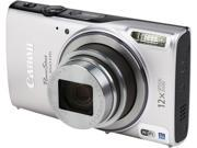 Canon PowerShot ELPH 350 HS Silver 20.2 MP 12X Optical Zoom 25mm Wide Angle Digital Camera