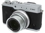 FUJIFILM X30 16437695 Silver 12.0 MP 4X Optical Zoom 28mm Wide Angle Digital Camera HDTV Output