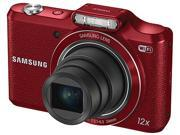 SAMSUNG WB50F Red 16.2 Megapixel 12X Optical Zoom Smart Digital Camera