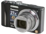 Panasonic DMC-ZS10K Black 14.1 MP 16X Optical Zoom Digital Camera