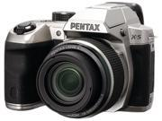 PENTAX X-5 12772 Silver 16 MP 26X Optical Zoom Digital Camera HDTV Output