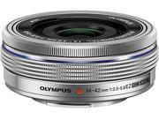 OLYMPUS V314070SU000 Compact ILC Lenses M.Zuiko ED 14-42mm F3.5-5.6 EZ Lens Silver