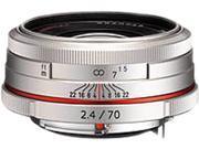 PENTAX 21440 DA 70mm F2.4 Limited Lens Silver
