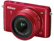 "Nikon 1 S2 27706 Red 14.2MP 3.0"" 460K LCD Camera with 11-27.5mm lens"