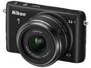 "Nikon 1 S2 27696 Black 14.2MP 3.0"" 460K LCD Camera with 11-27.5mm lens"