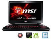 """MSI GT Series GT80S TITAN SLI-222 Gaming Laptop 6th Generation Intel Core i7 6920HQ (2.90 GHz) 64 GB Memory 1 TB HDD 512 GB SSD NVIDIA GeForce GTX 980 SLI 16 GB GDDR5 18.4"""" Windows 10 Home 64-Bit"""